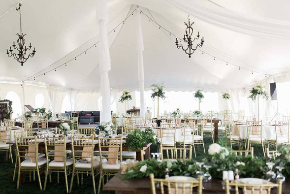 wedding tent with accessories